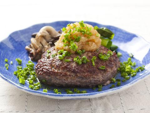 牛ひき肉の和風ステーキ