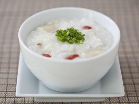 白身魚と山芋のお粥