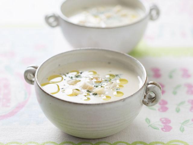 冷たい豆乳コーンスープ