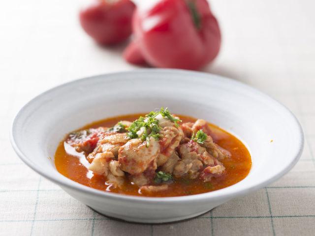 丸ごとトマトと鶏のスープ