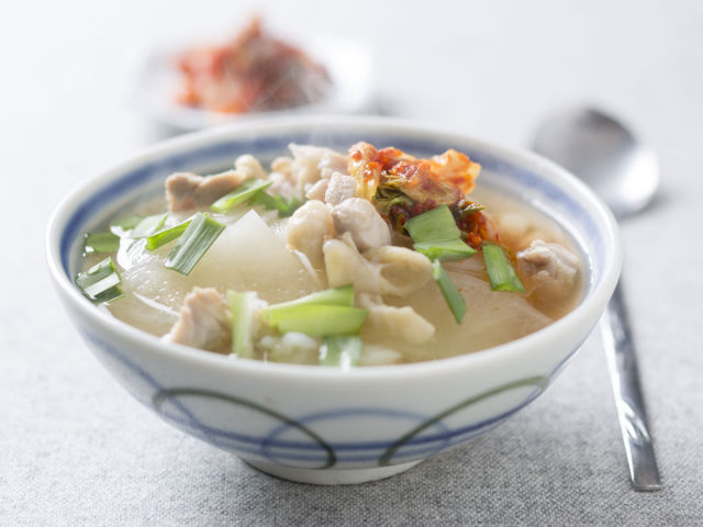 大根と鶏肉の韓国風スープ飯